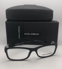 Load image into Gallery viewer, New DOLCE & GABBANA Eyeglasses DG 3228 501 53-16 140 Black & Silver Frame