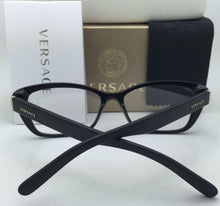 Load image into Gallery viewer, New VERSACE Eyeglasses 3201 GB1 54-16 140 Black Frame w/ Matte Black Temples