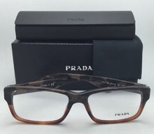 Load image into Gallery viewer, New PRADA Eyeglasses VPR 16M QE1-1O1 55-16 Brown Camouflage & Light Brown Frame