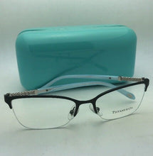 Load image into Gallery viewer, TIFFANY & CO. Eyeglasses TF 1111-B 6097 53-17 140 Black & Blue Frame w/ Crystals