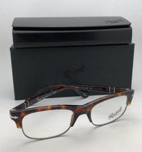Load image into Gallery viewer, New PERSOL Rx-able Eyeglasses 3033-V 24 50-18 140 Havana Tortoise-Gunmetal Frame