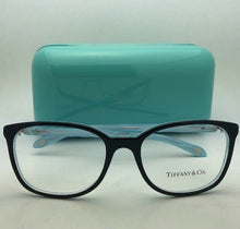 Load image into Gallery viewer, TIFFANY & CO. Eyeglasses TF 2109-H-B 8193 53-17 Black on Blue w/ Crystals+Pearls