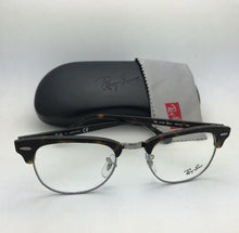 Load image into Gallery viewer, New RAY-BAN CLUBMASTER Rx-able Eyeglasses RB 5154 5211 49-21 Tortoise & Gunmetal