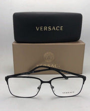Load image into Gallery viewer, New VERSACE Eyeglasses 1232 1261 54-16 140 Matte Black Rectangular Frames