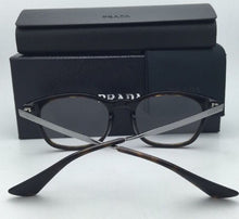 Load image into Gallery viewer, New PRADA Eyeglasses VPR 01P 2AU-1O1 50-19 Havana & Silver Frames