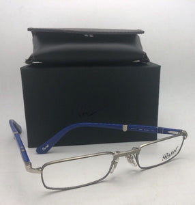 New PERSOL Rx-able Folding Eyeglasses 2401-V 1052 51-21 Ruthenium & Blue Frames