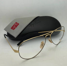 Load image into Gallery viewer, New RAY-BAN Aviator Rx-able Eyeglasses RB 6489 2946 55-14 140 Black & Gold Frame