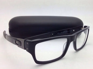 New OAKLEY Eyeglasses MUFFLER 22-202 53-18 Black Rectangular Plastic Frame