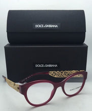 Load image into Gallery viewer, New DOLCE & GABBANA Rx-able Eyeglasses DG 3184 2681 50-19 Opal Bordeaux Frames