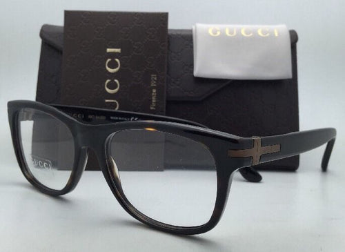 New GUCCI Eyeglasses GG 1052 WR9 53-17 Brown Havana Tortoise Frame