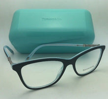 Load image into Gallery viewer, TIFFANY & CO. Eyeglasses TF 2116-B 8193 53-16 140 Black on Blue w/ Crystals