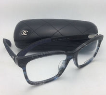 Load image into Gallery viewer, New CHANEL Eyeglasses 3334-A 1552 54-16 140 Blue Grey Tortoise Frame w/ Fabric