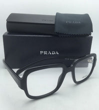 Load image into Gallery viewer, New PRADA Eyeglasses VPR 15R 1AB-1O1 53-19 140 Shiny Black on Matte Black Frames