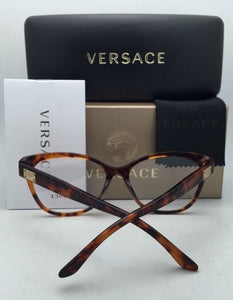 New VERSACE Eyeglasses VE 3193-A 5074 54-16 140 Havana Cat-Eye Frames