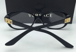 New VERSACE Rx-able Eyeglasses VE 3179-B GB1 54-16 Black and Gold Frames