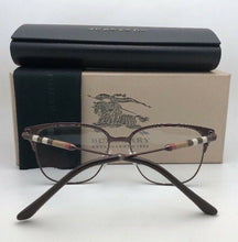 Load image into Gallery viewer, New BURBERRY Eyeglasses B 1313-Q 1240 53-16 140 Brown Frame w/ Plaid Design