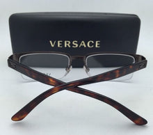 Load image into Gallery viewer, New VERSACE Eyeglasses VE 1184 1269 53-18 Semi-Rimless Brown/Havana Frame