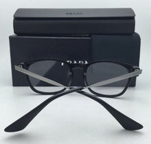 Load image into Gallery viewer, New PRADA Eyeglasses VPR 01P 1AB-1O1 50-19 Black & Silver Frames