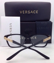 Load image into Gallery viewer, New VERSACE Eyeglasses VE 3192-B GB1 54-16 Black and Gold Frames with Crystals