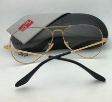 Load image into Gallery viewer, New RAY-BAN Aviator Rx-able Eyeglasses RB 6489 2946 58-14 140 Black & Gold Frame