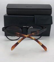 Load image into Gallery viewer, New PRADA Eyeglasses VPR 16T 1AB-1O1 52-18 140 Black Tortoise Round Style Frames