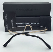 Load image into Gallery viewer, New PORSCHE DESIGN Titanium Eyeglasses Half Eyes P'8002 A - Semi-Rimless Gold Frames