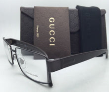 Load image into Gallery viewer, New GUCCI Eyeglasses GG 2217 L13 55-16 Cocoa Brown Frame
