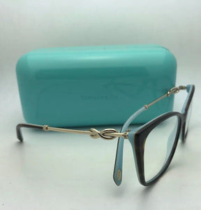 New TIFFANY & CO. Eyeglasses TF 2160-B 8134 54-17 140 Tortoise Blue & Gold Frame