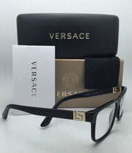 Load image into Gallery viewer, New VERSACE Rx-able Eyeglasses VE 3211 GB1 55-17 145 Black Frames