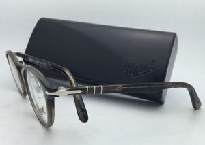 """Typewriter Edition"" PERSOL Rx-able Eyeglasses 3107-V 1019 Stripped Beige Frames"