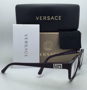 New VERSACE Eyeglasses VE 3189-B 5066 54-15 140 Violet Purple Frame w/ Crystals