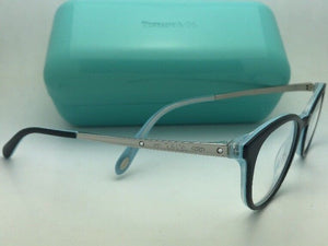 TIFFANY & CO. Eyeglasses TF 2128-B 8193 48-18 140 Black & Silver On Blue Frames