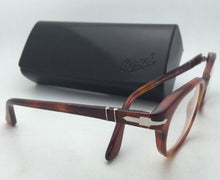 Load image into Gallery viewer, New PERSOL Rx-able Eyeglasses 3052-V 96 50-20 140 Terra Di Siena Havana Frames