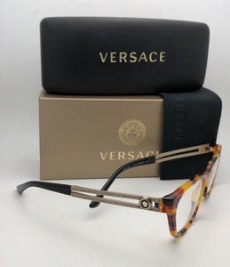 New VERSACE Eyeglasses VE 3248 5074 54-16 140 Havana Cat-Eye Frames
