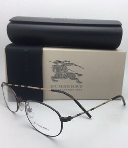 New BURBERRY Eyeglasses B 1273 1012 54-19 135 Brown & Plaid Classic Oval Frames