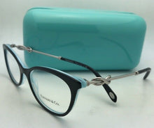 Load image into Gallery viewer, TIFFANY & CO. Eyeglasses TF 2142-B 8193 51-16 140 Black on Blue Frames w/ Silver