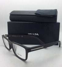 Load image into Gallery viewer, New PRADA Eyeglasses VPR 01S TV6-1O1 56-17 145 Brushed Brown Frame
