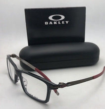 Load image into Gallery viewer, New OAKLEY Eyeglasses PITCHMAN OX8050-0553 53-18 Polished Black & Burgundy Frame
