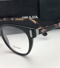 Load image into Gallery viewer, New PRADA Eyeglasses VPR 06T 1AB-1O1 50-20 135 Black & Tortoise Frames
