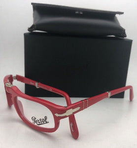 New Folding PERSOL Rx-able Eyeglasses 2886-V 999 51-22 145 Red Frames