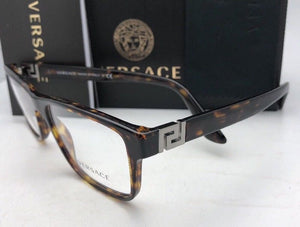 New VERSACE Rx-able Eyeglasses VE 3211 108 55-17 145 Tortoise Havana Frames