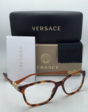 Load image into Gallery viewer, New VERSACE Eyeglasses VE 3181-B 5074 55-15 140 Honey Tortoise Frame w/ Crystals