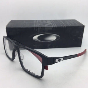 New OAKLEY Eyeglasses CHAMFER 2 OX8040-0554 54-17 140 Black & Burgundy Frame