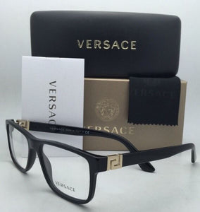 New VERSACE Rx-able Eyeglasses VE 3211 GB1 55-17 145 Black Frames