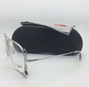 New RAY-BAN Aviator Classic Rx-able Eyeglasses RB 6489 2501 55-14 Silver Frames