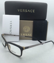 Load image into Gallery viewer, New VERSACE Rx-able Eyeglasses 3073 278 52-16 Black on Horn Frame