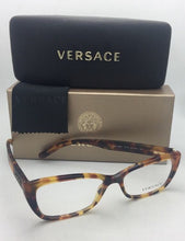Load image into Gallery viewer, New VERSACE Eyeglasses 3201 5119 54-16 140 Tortoise w/ Matte Tortoise Temples