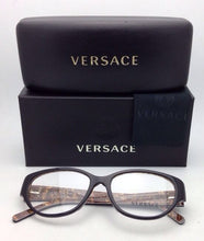 Load image into Gallery viewer, New VERSACE Eyeglasses VE 3183 5082 54-16 140 Black & Baroque Frame