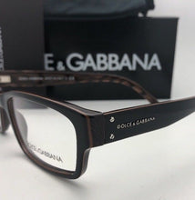 Load image into Gallery viewer, New DOLCE & GABBANA Rx-able Eyeglasses DG 3087 858 54-15 140 Black-Brown Striped