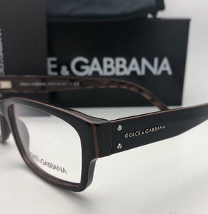 New DOLCE & GABBANA Rx-able Eyeglasses DG 3087 858 54-15 140 Black-Brown Striped